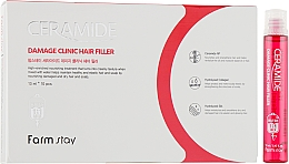 Парфюмерия и Козметика Овлажняващи филър ампули за коса със серамиди - FarmStay Ceramide Damage Clinic Hair Filler