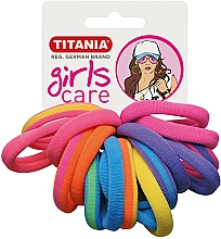 Парфюмерия и Козметика Ластици за коса, 16 бр., цветни - Titania Girls Care