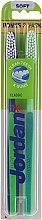 """Парфюмерия и Козметика Комплект четки за зъби, меки """"Класик"""", синя-зелена + зелена - Jordan Classic Soft (toothbrush/2szt)"""