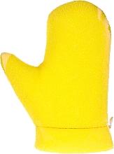 """Парфюмерия и Козметика Масажна ръкавица """"Aqua"""", 6021, жълта - Donegal Aqua Massage Glove"""