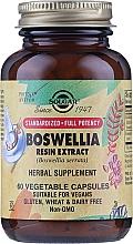 """Парфюмерия и Козметика Билкова хранителна добавка """"Екстракт от босвелия"""", капсули - Solgar Boswellia Resin Extract Herbal Supplement"""