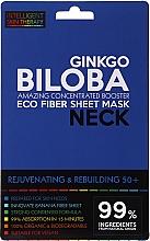 Парфюмерия и Козметика Маска за шия - Beauty Face IST Rejuvenating & Rebuilding Neck Mask Ginkgo Biloba