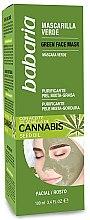 Парфюмерия и Козметика Почистваща маска за лице с масло от коноп - Babaria Cannabis