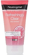 Парфюми, Парфюмерия, козметика Скраб за лице с розов грейпфрут и витамин С - Neutrogena Refreshingly Clear Daily Exfoliator