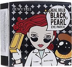 Парфюмерия и Козметика Пачове за очи със злато и черна перла - Dewytree Real Gold Black Pearls Eye Patch