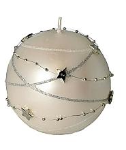 Парфюмерия и Козметика Декоративна свещ, топка, кремава, 8 см - Artman Christmas Garland