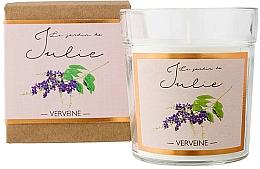 "Парфюмерия и Козметика Ароматна свещ ""Върбинка"" - Ambientair Le Jardin de Julie Verveine"