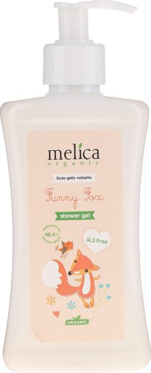 """Детски душ гел """"Лисичка"""" - Melica Organic Funny Fox Shower Gel — снимка N1"""