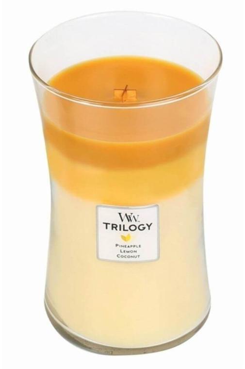 Ароматна свещ в чаша - WoodWick Hourglass Trilogy Candle Fruits of Summer — снимка N2