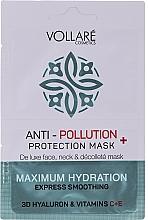 Парфюмерия и Козметика Хидратираща маска за лице с хиалуронова киселина и витамин С и Е - Vollare Anti-Pollution Protection Mask