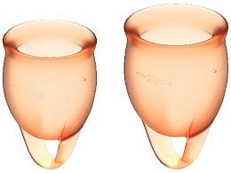 Парфюмерия и Козметика Комплект менструални чаши, оранжеви - Satisfyer Feel Confident Menstrual Cups Orange