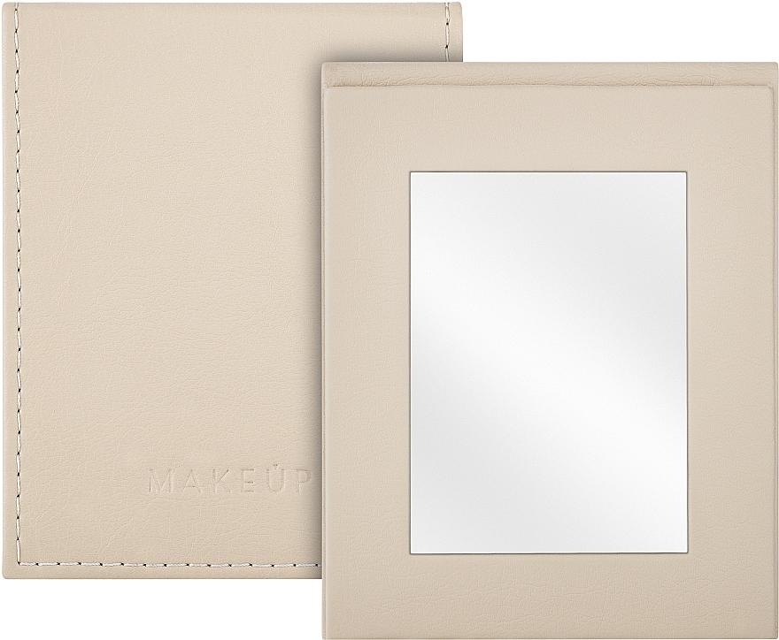Сгъваемо козметично огледало, бежово - MakeUp Pocket Mirror Beige