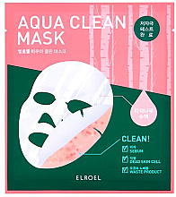Парфюмерия и Козметика Био-целулозна маска за лице - Elroel Aqua Clean Mask