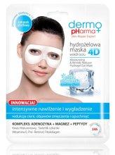Парфюмерия и Козметика Маска за околоочния контур - Dermo Pharma 4D Moisturizing & Wrinkle Reduct Hydrogel Eye Mask