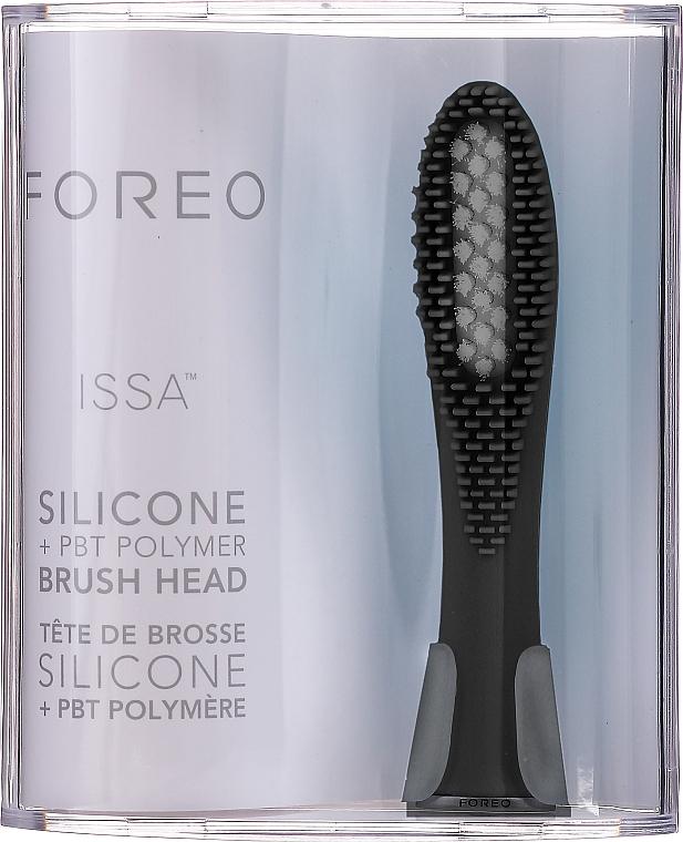 Сменяема глава за електрическа четка за зъби - Foreo Issa Hybrid Brush Head Cool Black — снимка N1
