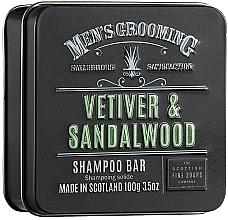 Парфюмерия и Козметика Твърд шампоан за коса с ветивер и сандалово дърво за мъже - Scottish Fine Soaps Mens Grooming Vetiver & Sandalwood Shampoo Bar