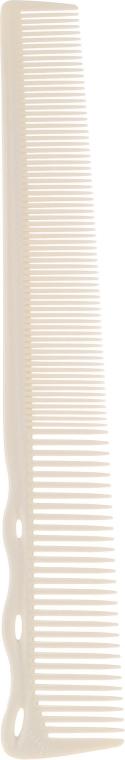 Гребен за подстригване, 167мм, бял - Y.S.Park Professional 252 B2 Combs Soft Type White — снимка N1